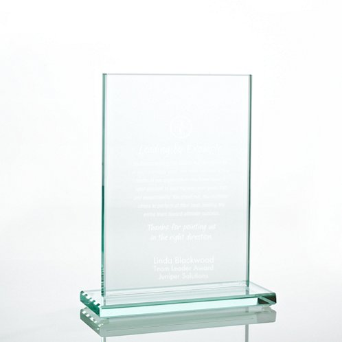 Medium Rectangle Jade Character Trophy
